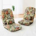 折りたたんでコンパクトにしまえる収納便利な座椅子。