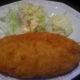 『白身魚フライ定食、タルタルソースでご満悦!』の画像
