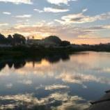 『広瀬川の夕陽』の画像