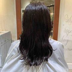 表参道 神宮前 東京都内で美髪パーマが得意な美容室ミンクス原宿 須永健次 セミロングに大人なしっかりパーマをかけてみました。デジタルパーマで毛先にカール☆
