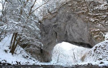『『雪景色』帝釈峡 雄橋』の画像