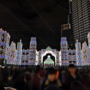 娘 今年も神戸ルミナリエに行く