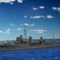 1/700  フジミ  旧帝国海軍  駆逐艦  山風  製作  2 完成