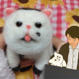 『制作時間30時間!ドラマ『おじさまと猫』のふくまるを羊毛フェルトで作りました』の画像