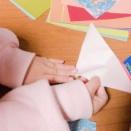 折り紙でたくさんおってクレープ作ってました!