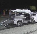 横転した軽乗用車にトラック衝突 18歳の男女3人が死亡 軽が法定速度の50kmをオーバーし走行か