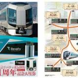『東武鉄道 「特急リバティ運行開始1周年記念入場券」を発売中』の画像