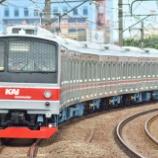 『中央線に初入線!!205系武蔵野線M17編成運輸省試運転(12月16日)』の画像
