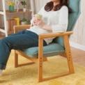 北欧テイストのデザイン座椅子♪ファブリック生地と木…