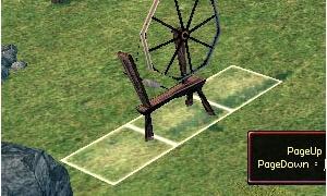 浪漫農場の糸車