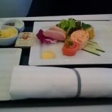『【ANA】(羽田空港)B777-300ER機内でFクラス、Cクラスの食事が楽しめる!翼のレストランHANEDA』の画像