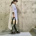 20200731 Sweet Mummyの授乳Tシャツ、かごバッグに合わせた夏のマタニティコーデ