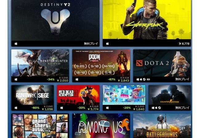 Steam年間ベスト作品発表! 売上上位 同時接続数上位 等