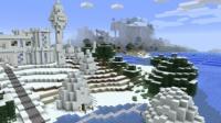 雪の城の近くに馬小屋を作る