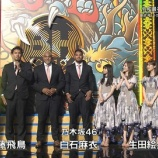 『【乃木坂46】体格差エグすぎw ラグビー日本代表と白石×飛鳥×生田が横並びにwwwwww』の画像