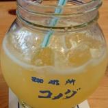 『甘夏の果肉つぶつぶ入り「サマージュース」~コメダ珈琲店 @アステ川西店』の画像