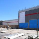 『コストコの外観(一部)がついにお目見え!イトヨー跡地のコストコ建設工事進捗 - 2017年5月』の画像