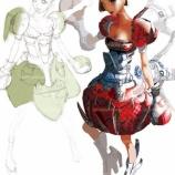 『鉄球みたいなアーマー着た女子の絵』の画像