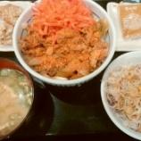 『なか卯で牛丼+サラダ+みそ汁+唐あげ2個!【株主優待・クーポン】』の画像
