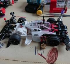 【ミニ四駆】スーパーTZ-Xを組む!走行したら爆速だった件