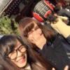 松井玲奈さん変な眼鏡をかけてクリスマスに浅草デート・・・