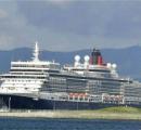 豪華客船「クイーン・エリザベス」、青森に初寄港 アラスカへ向かうクルーズ