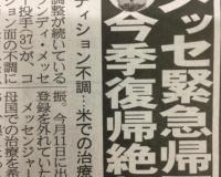 阪神メッセ帰国、今季絶望