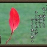 『フォト短歌「一枚の葉」』の画像