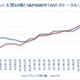 『【30ヶ月目】「バフェット太郎10種」VS「S&P500ETF」のトータルリターン』の画像