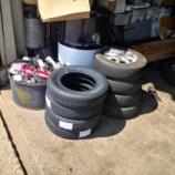 『タイヤ交換と除草作業開始』の画像