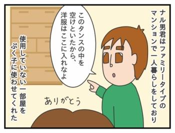 390. ナル男君の家での避難生活