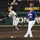 阪神・糸原が止めた!大野雄に46イニングぶり失点味わせる適時二塁打
