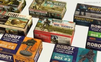 ロボット模型キットのボックスアート風リテクスチャMOD