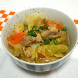 鶏とキャベツの味噌煮込み