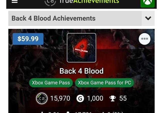 『Back 4 Blood』アクティブ数でXBOXが10倍近く差を付ける