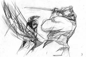 【Kickstarter】アニメ界の重鎮・木村圭市郎76歳がたった1人で描くチャンバラアニメ「GO! SAMURAI」プロジェクトがスタート