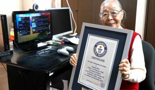 90歳の日本人女性が世界最高齢のゲームYouTuberとしてギネス認定(海外の反応)