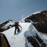 『GW山行:南アルプス聖岳東尾根の雄大な雪稜歩き。』の画像
