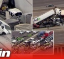 テキサス州のハイウェイで130台以上が絡む多重衝突事故 少なくとも6人が死亡 当時現場は悪天候のため路面が凍結