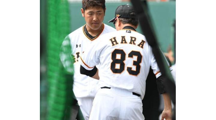 巨人・岡本和真、原監督から打撃指導を受ける