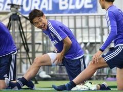 【画像】代表の練習中に見せる香川の表情wwww