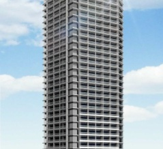 地上32階「(仮称)イトーピア浜離宮建替計画」の建設地の様子!東京建物によるタワマンで9月26日が着工予定です(2020.9.21)