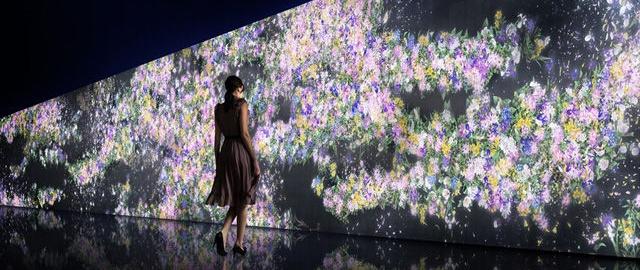 チームラボがグッチ新宿でデジタルインスタレーション作品「Infinity of Flowers」を公開