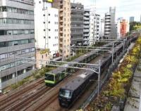 『山手線渋谷駅周辺の新しい風景 宮下公園』の画像