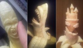 【日本人の創作】  こりゃ凄え・・・。バナナから次々と名作生み出す「バナナ彫刻職人」の超絶技巧。   海外の反応