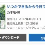 『【乃木坂46】再び上昇キタ!『いつかできるから今日できる』5日目売り上げは21,253枚でオリコン1位!累計837,058枚を記録!!!!』の画像