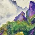 安中市で妙義山を描いて長野に向かいました