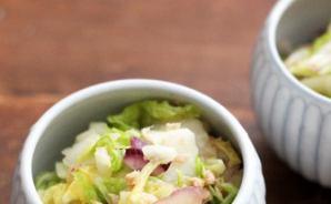 白菜とツナで作る
