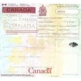 『カナダ ワーキングホリデービザ証』の画像