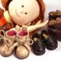 「いずれの靴でも簡単にすっと立つのでストレスフリーになりました。」 ― マドレーヌちゃんの靴着用画像をいただきました!